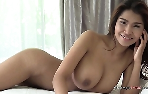 Big boobs first of all Thai girl creampie