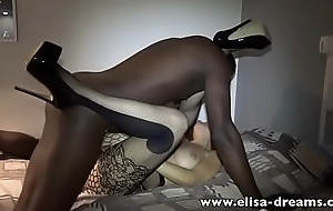 Hotwife gets drilled perfectly her holes hard by a BBC