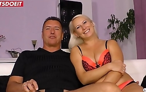 Amateur German Wife with Boss, filmed by Cuckold Scrimp