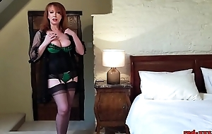 Dejected grown-up redhead fucks their way love tunnel about their way heels