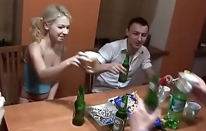 Pty drunk a Russian student and had mating with her in enclosing holes - transparent shooting