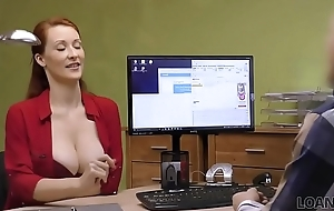 LOAN4K. Be in charge redhead pays with sex for development of her business