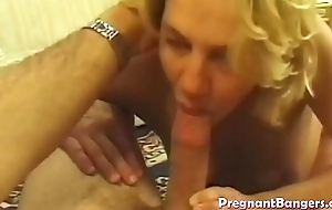 Pregnant blonde slut fucked lasting