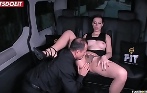 Russian Babe Gets Drilled Hardcore by the Uber Waitress (George Uhl &amp_ Sarah Highlight)