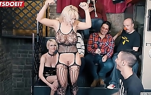 Big Bore Sexy Teen Gets tied together with misused to hand bondage party (Blondie Fesser)