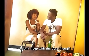 Cute African Amateur Teen Copulates Her Boss In Masterfulness