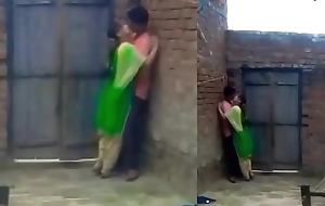 Bus students kissing in family in school